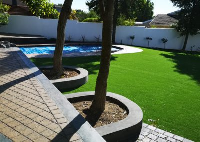 Artificial Grass enhanced with Paving