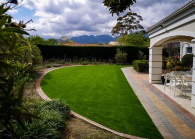 grass with paved borders