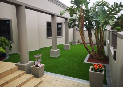 Entrance Artificial Grass installation