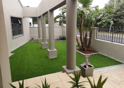 Artificial Grass at Home Entrance